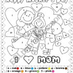 Happy Mother s Day Coloring By Number Escuela Anatom a