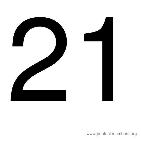 Images Of Numbers 21 Printable Number 19 Printable