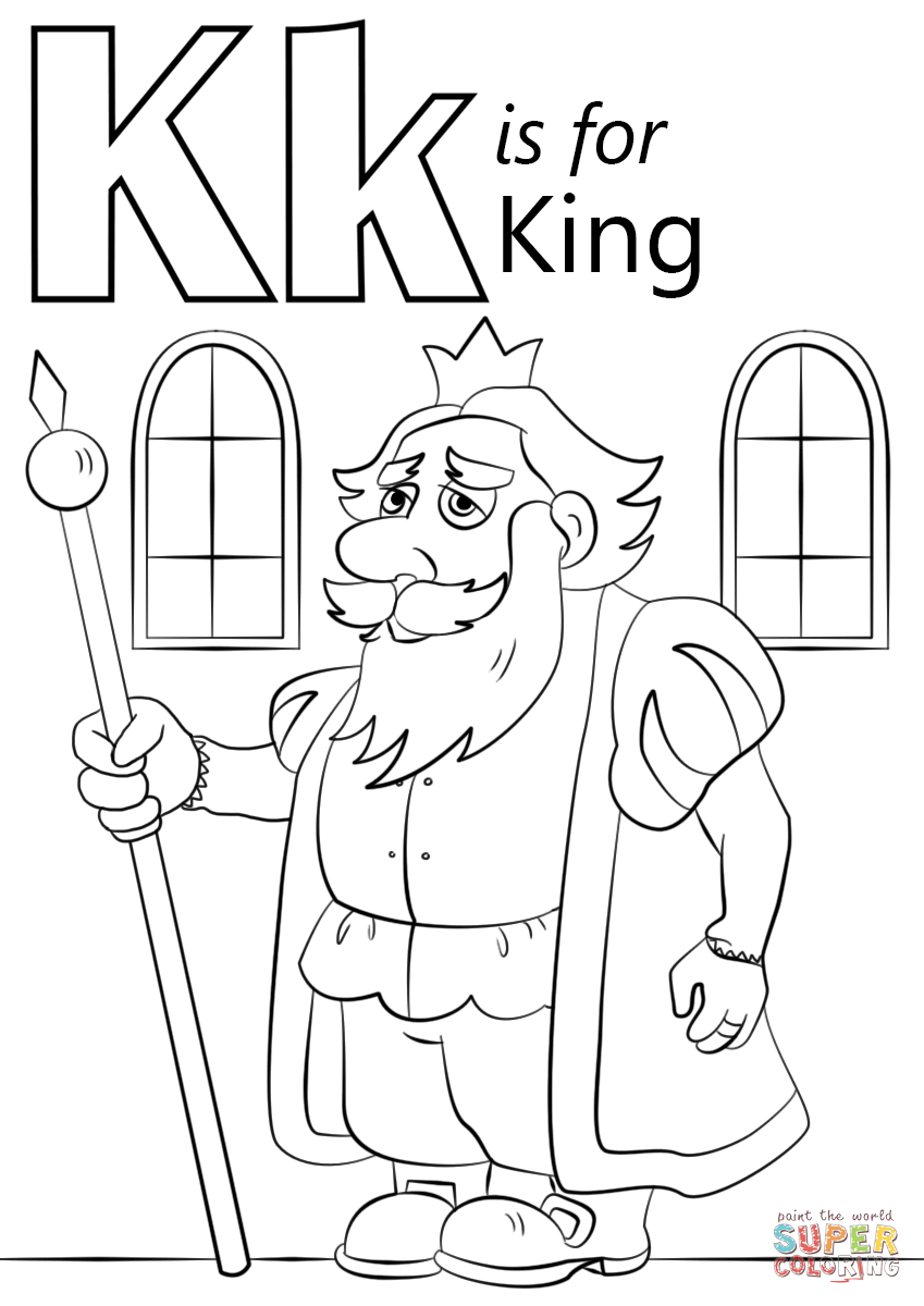 K Coloring Pages At GetDrawings Free Download