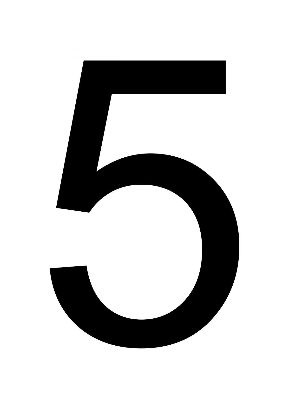 Large Printable Number 5 Large Printable Numbers