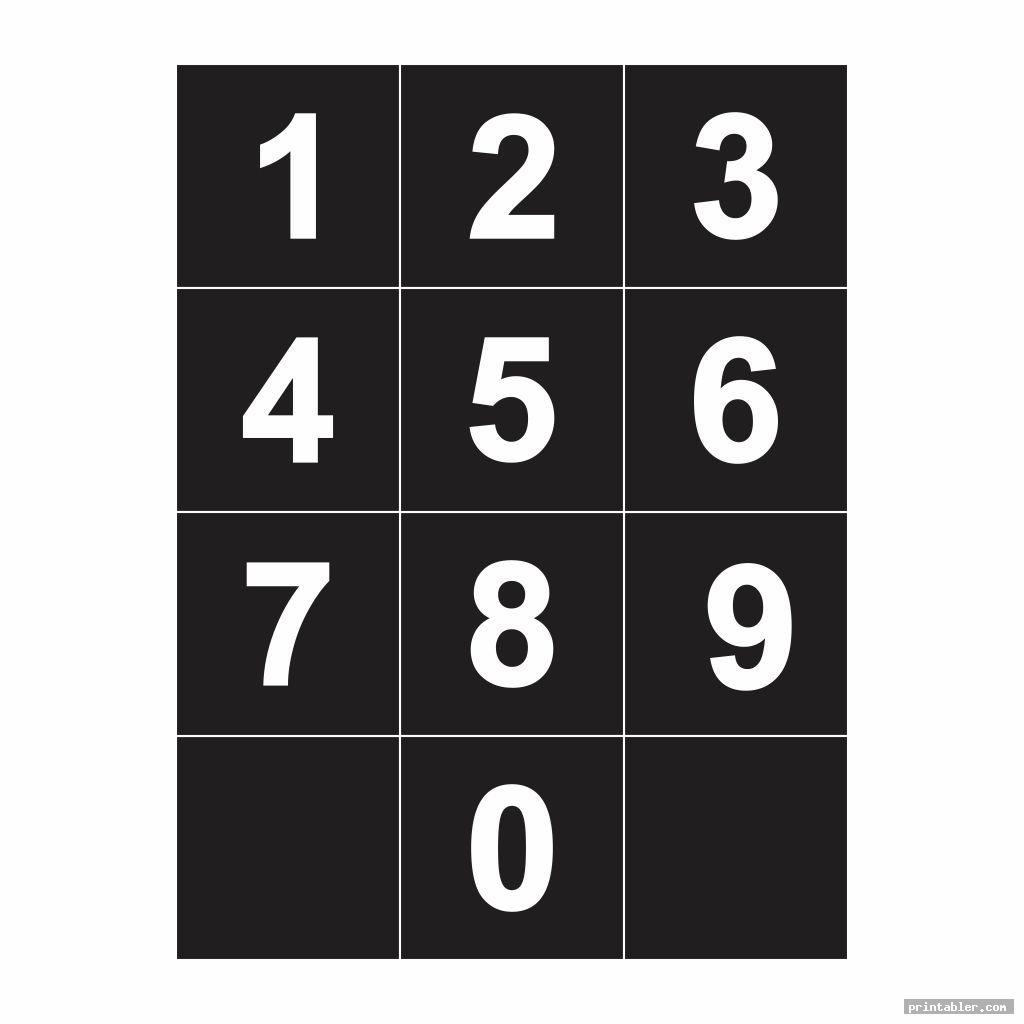 Large Printable Numbers 0 9 Gridgit