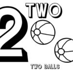 Learn Number 2 With Two Basketball Coloring Page Bulk