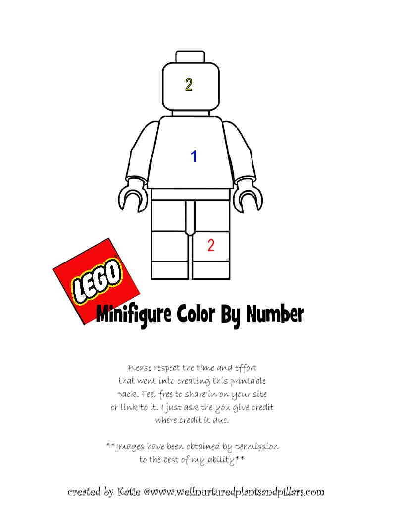 LEGO Addition And Multiplication Color By Number