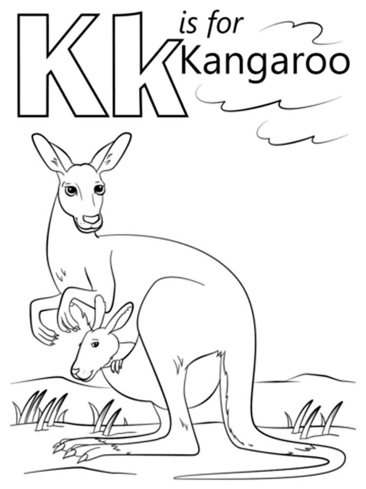 Letter K Coloring Pages Download And Print Letter K