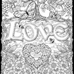 Love Color By Number Coloring Pages Adult Coloring