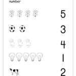 Match Numbers Worksheet For Preschool NumbersWorksheet
