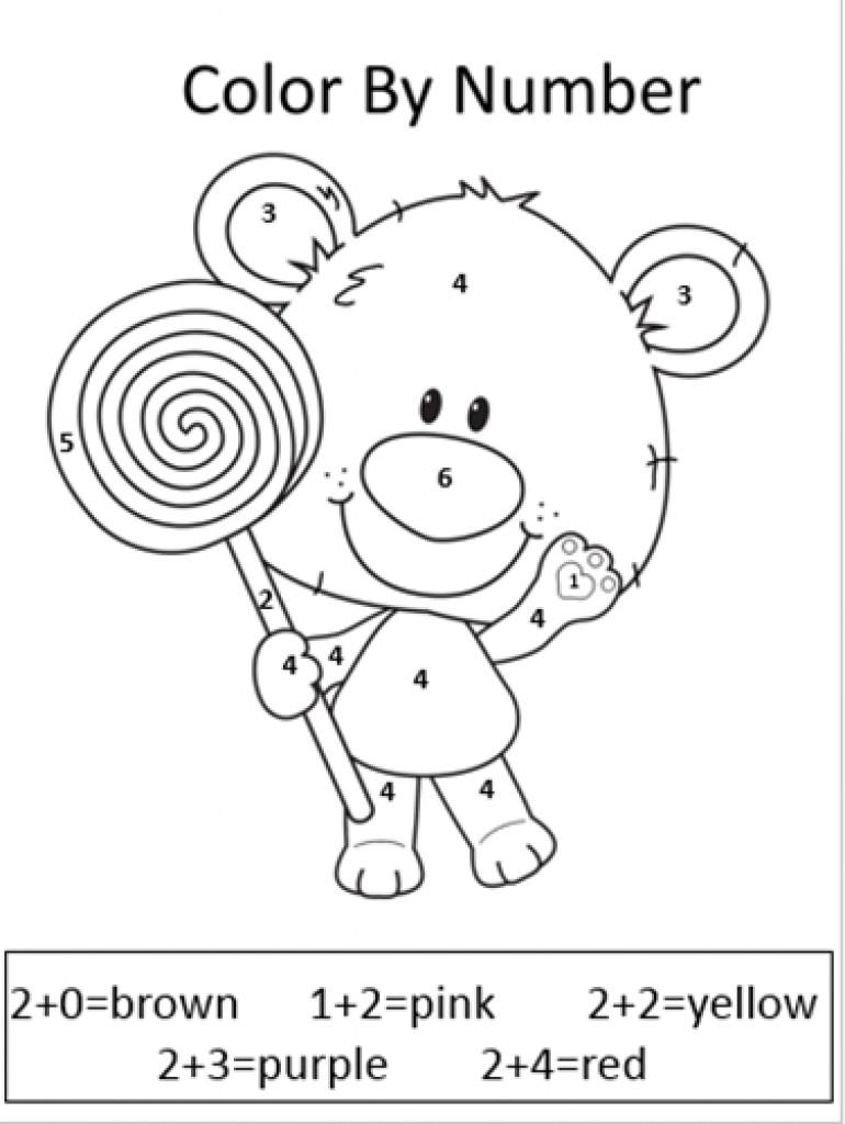 Math Color Worksheets For 1st Grade