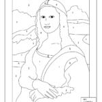 Mona Lisa Coloring Page Printable Mona Lisa Drawing Art