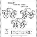 Monster Trucks Printable Preschool Printables