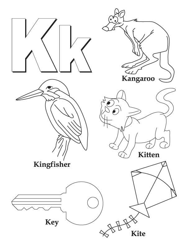 My A To Z Coloring Book Letter K Coloring Page Alphabet