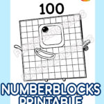 New 100 To 1000 Numberblocks Coloring Pages In 2020 Fun