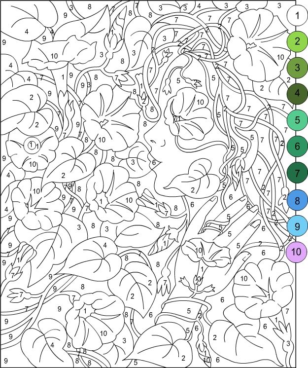 Nicole s Free Coloring Pages COLOR BY NUMBER