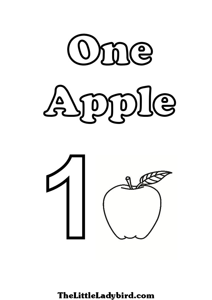 Number 1 Coloring Pages Only Coloring Pages Apple