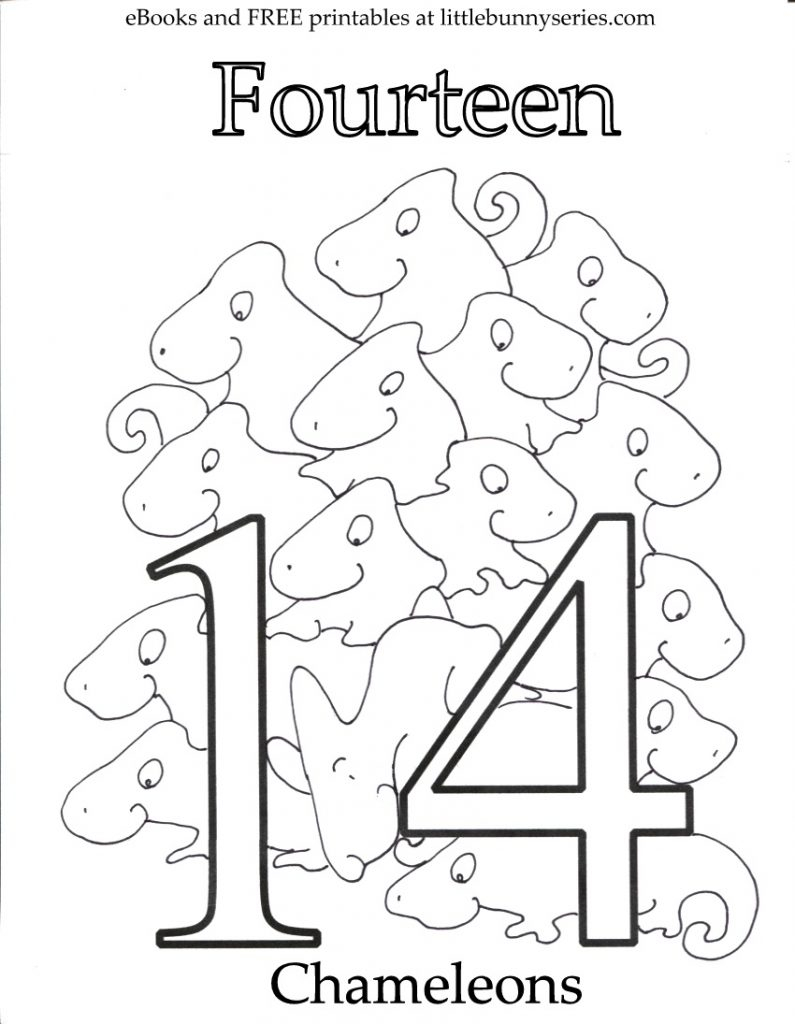 Number 14 Coloring Page At GetColorings Free