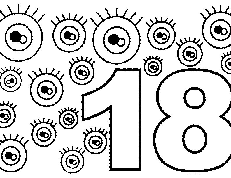 Number 18 Coloring Page At GetColorings Free