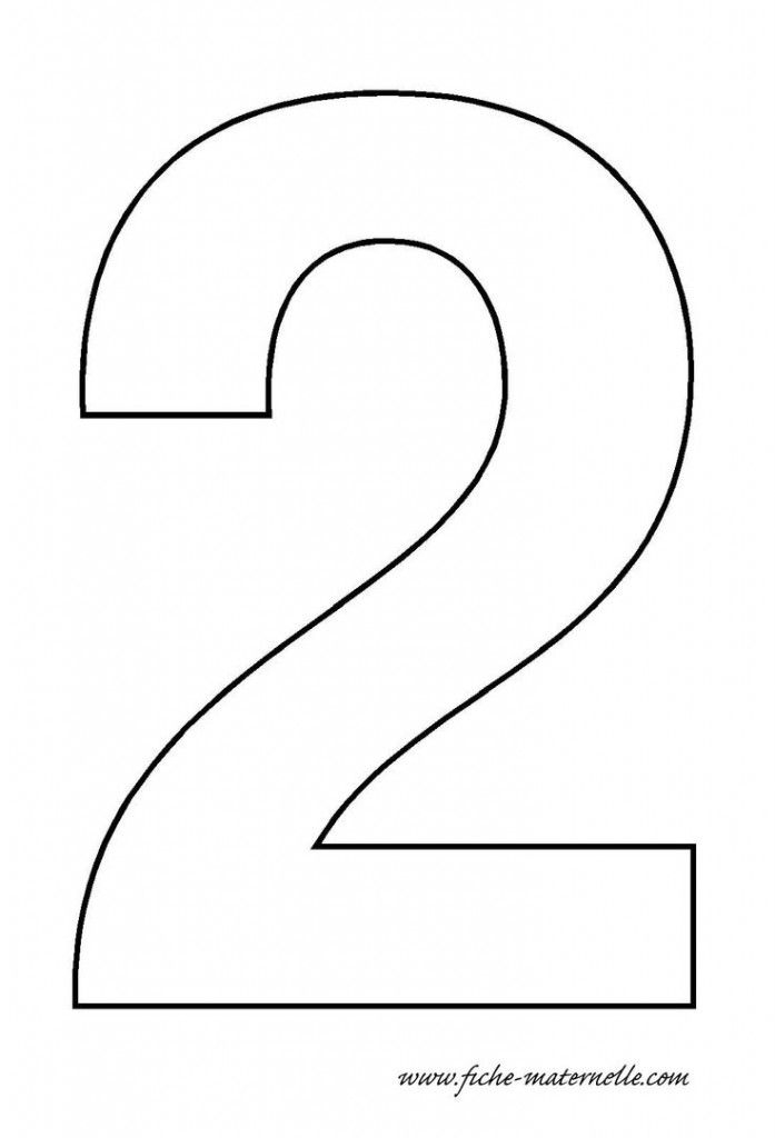 Number 2 Template Crafts And Worksheets For Preschool