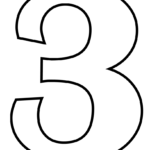Number 3 Coloring Page Free Printable Coloring Pages