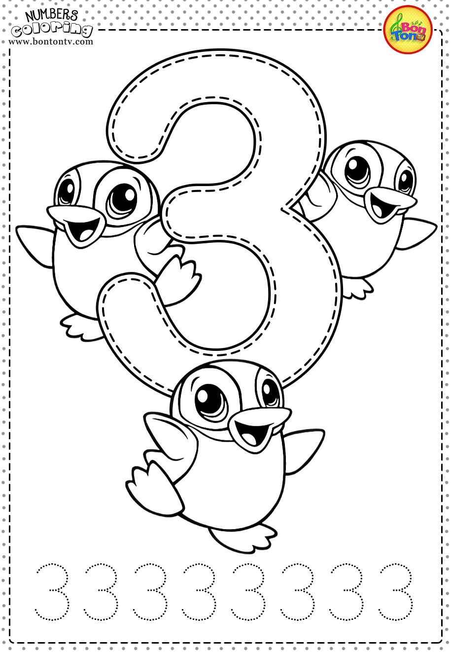 Number 3 Preschool Printables Free Worksheets And