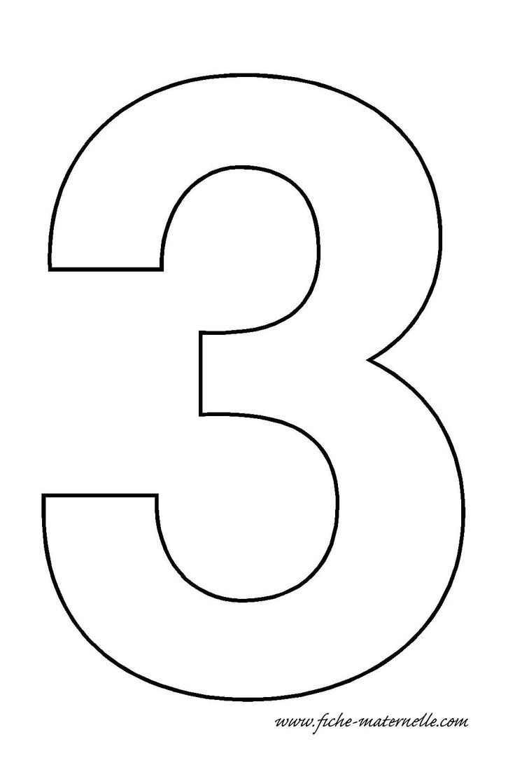 Number 3 Template Crafts And Worksheets For Preschool