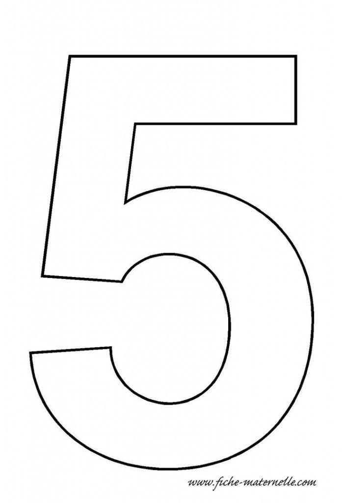 Number 5 Template Crafts And Worksheets For Preschool