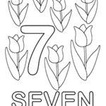 Number 7 Coloring Pages Desktop Background