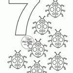 Number 7 Coloring Pages For Kids Counting Sheets