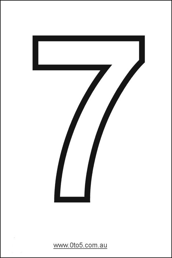 Number 7 Free Printable Numbers Printable Numbers