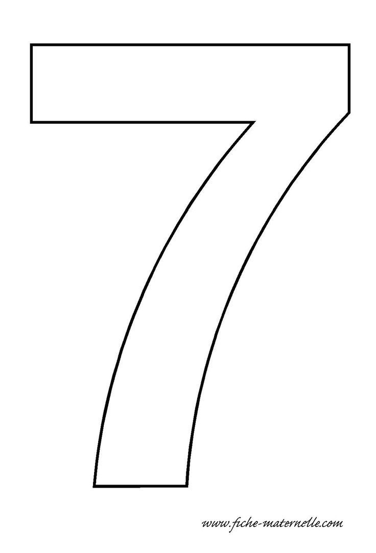 Number 7 Template Crafts And Worksheets For Preschool