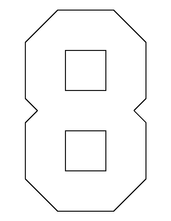 Number 8 Pattern Use The Printable Outline For Crafts