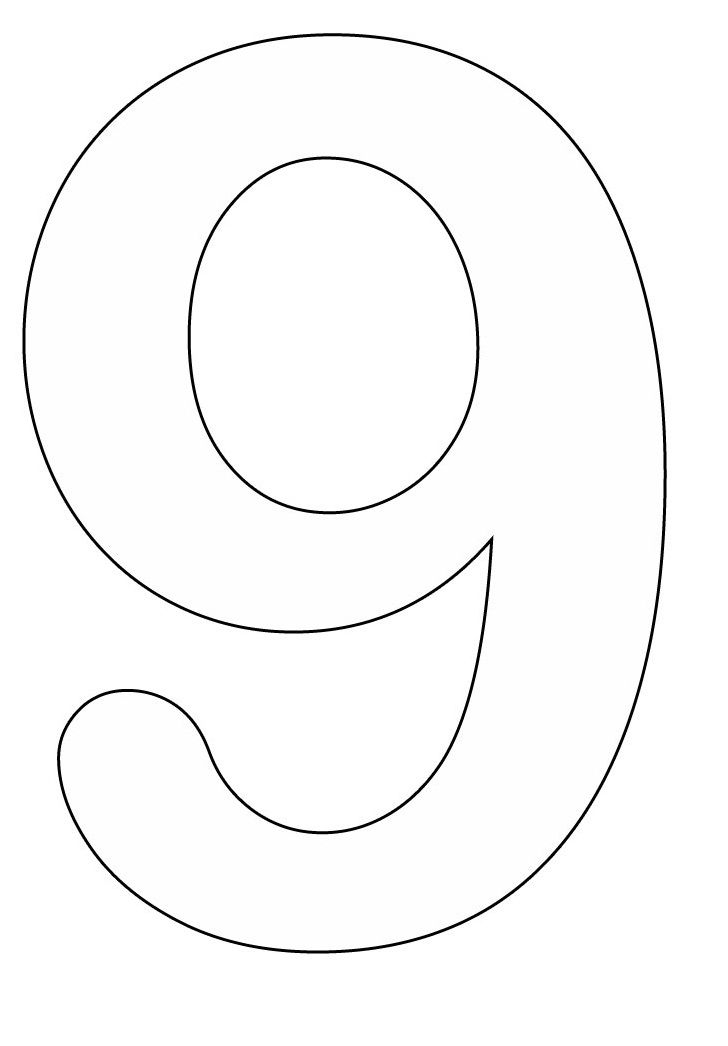 Number 9 Coloring Pages Coloring Pages For Kids Kids