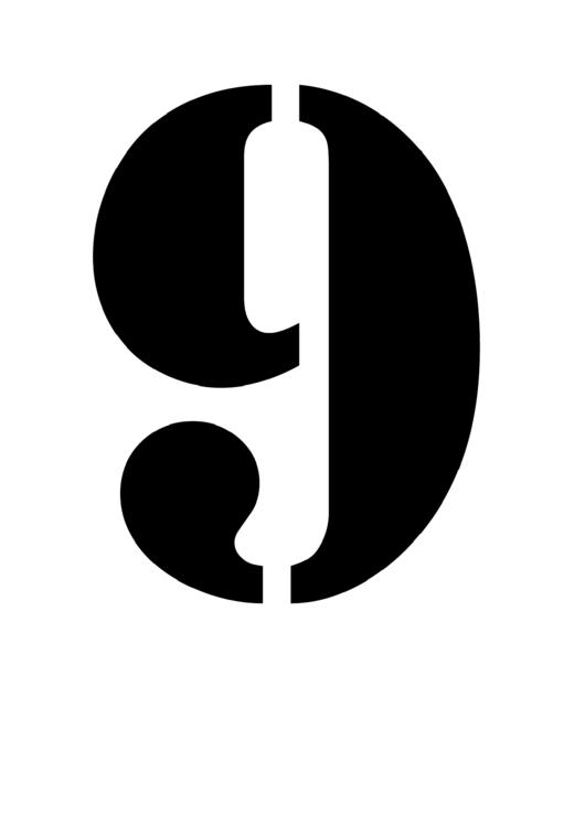Number 9 Stencil Template Printable Pdf Download