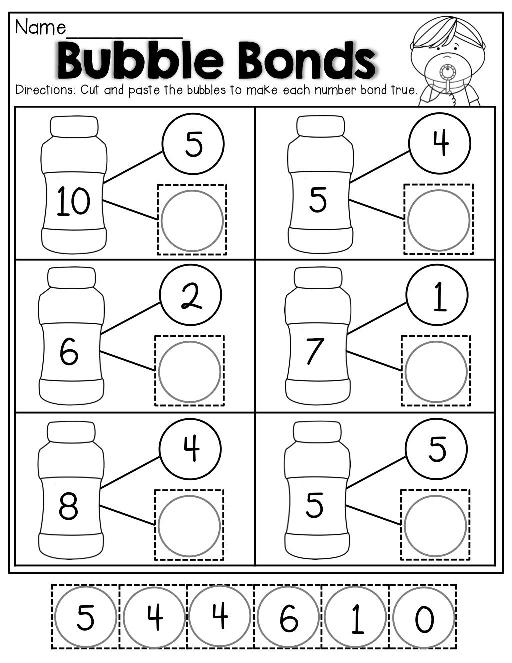 Number Bonds To 10 Worksheets Free Printable Number Bond