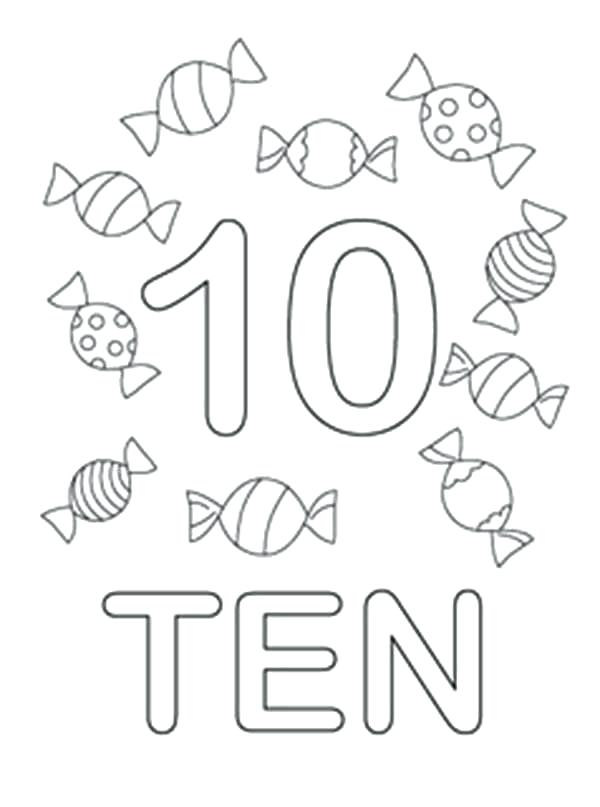 Number Coloring Pages 1 10 At GetColorings Free