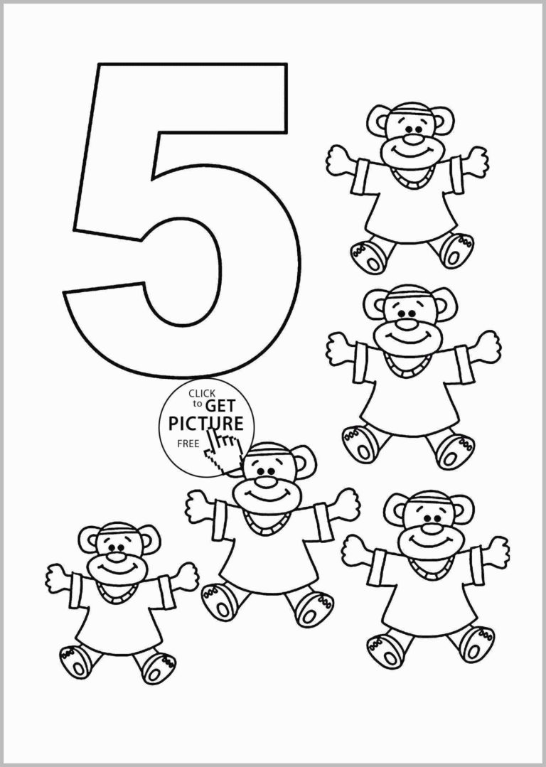 Number Coloring Pages For You Number Coloring Pages