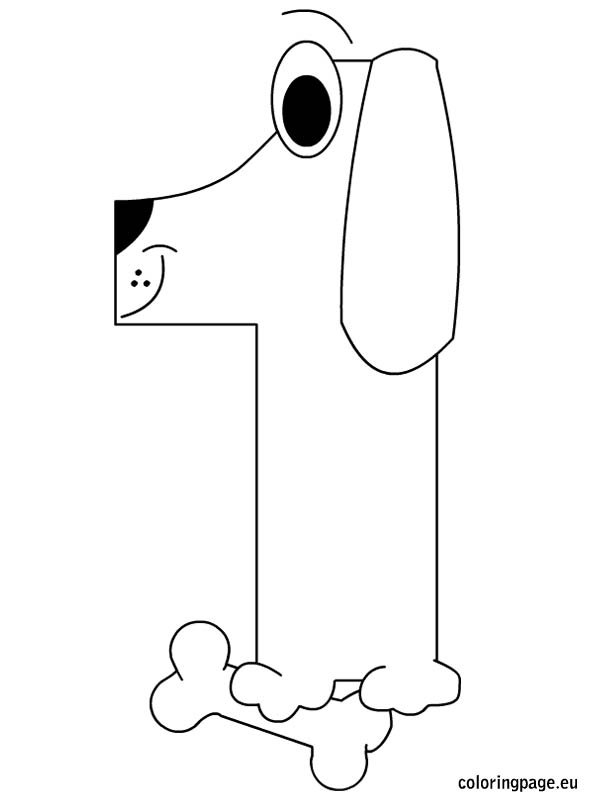 Number One Coloring Page Coloring Page