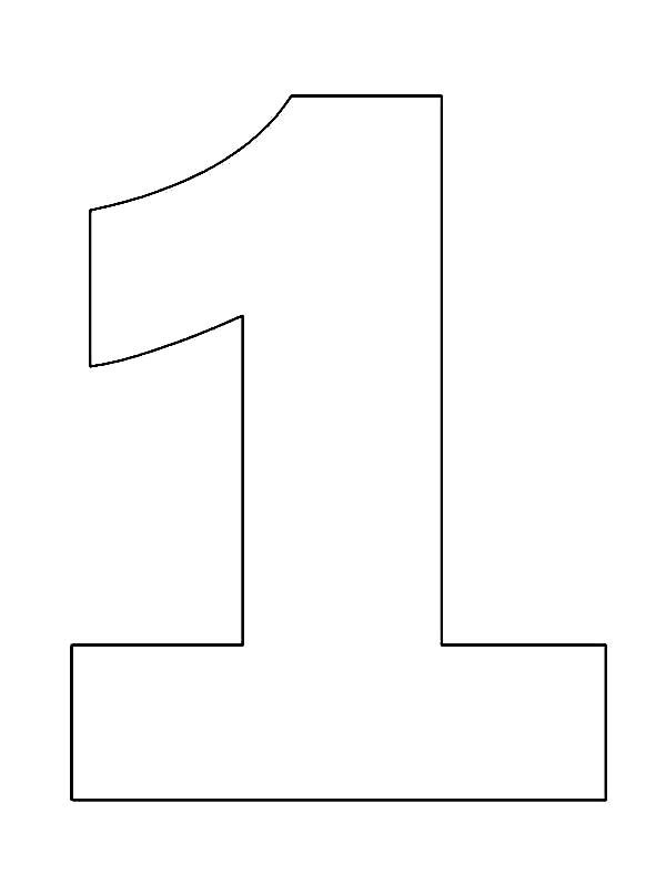 Number One Coloring Page Coloring Pages Super Coloring