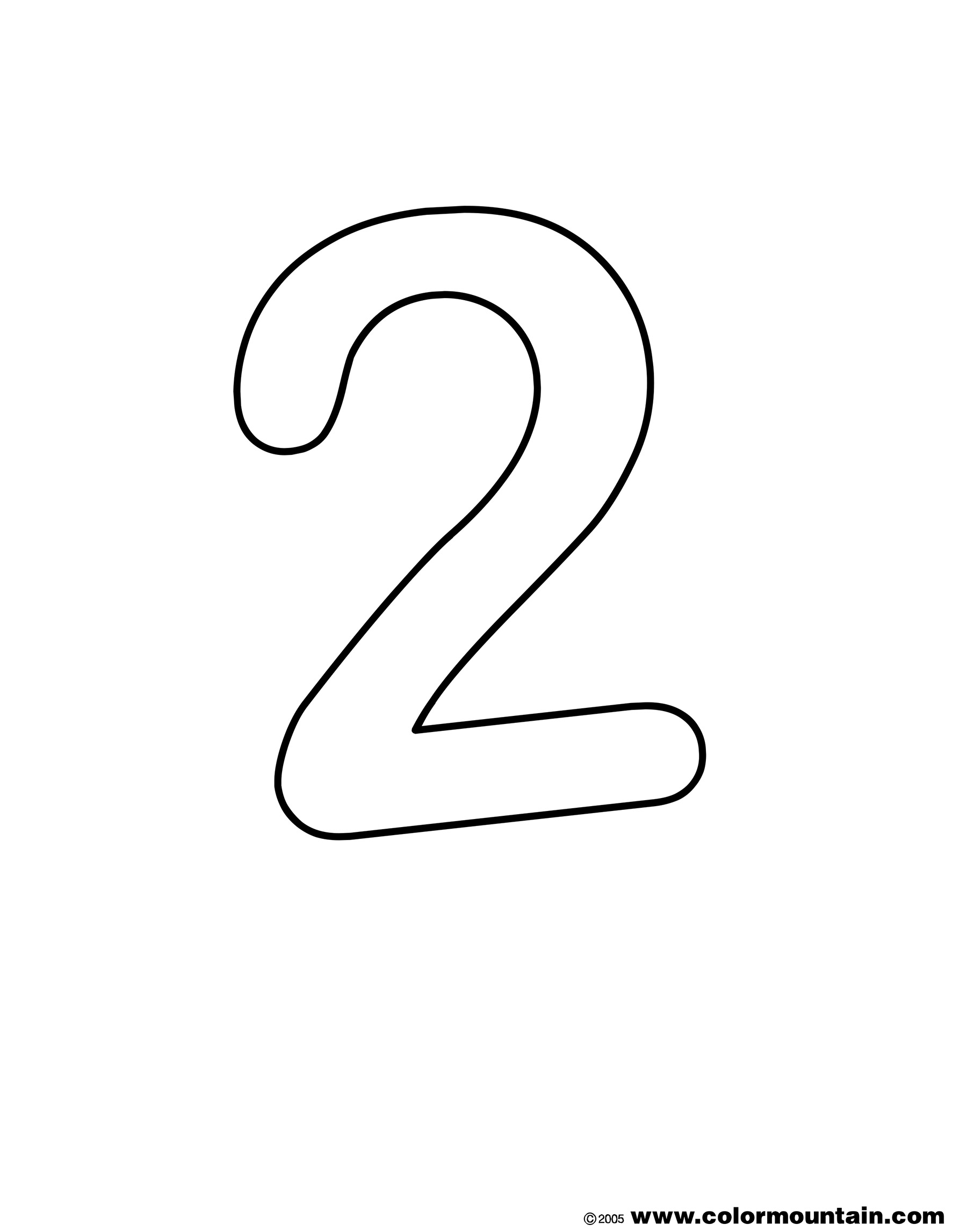 Number Two Coloring Page Create A Printout Or Activity