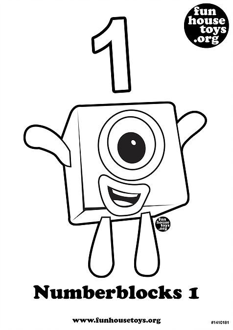 Numberblocks 1 Printable Coloring Page j Coloring Pages