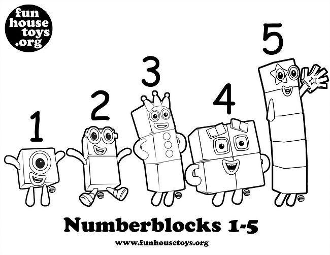 Numberblocks 1 T0 5 Printable Coloring P In 2020 Fun
