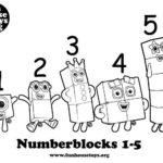 Numberblocks 1 T0 5 Printable Coloring P Numbers