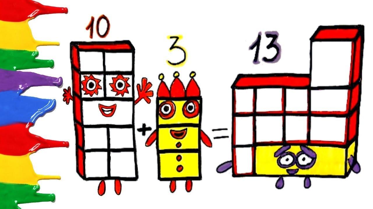 NUMBERBLOCKS 13 LEARN TO COUNT NUMBERBLOCKS COLORING