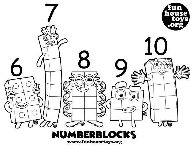 Numberblocks 6 T0 10 Printable Coloring Fun Printables