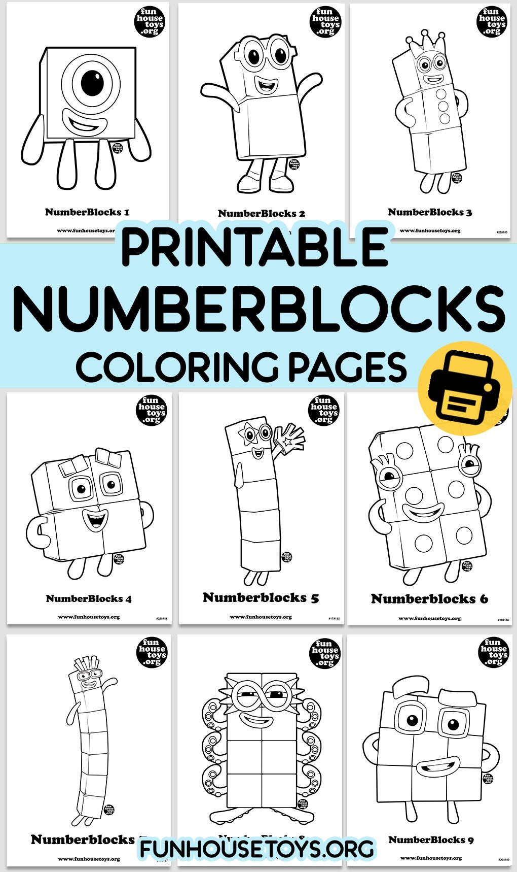 Numberblocks Coloring Pages For Kids Fun Printables For