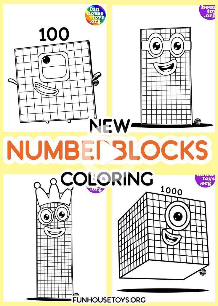 Numberblocks Printables In 2020 Coloring Pages Cool
