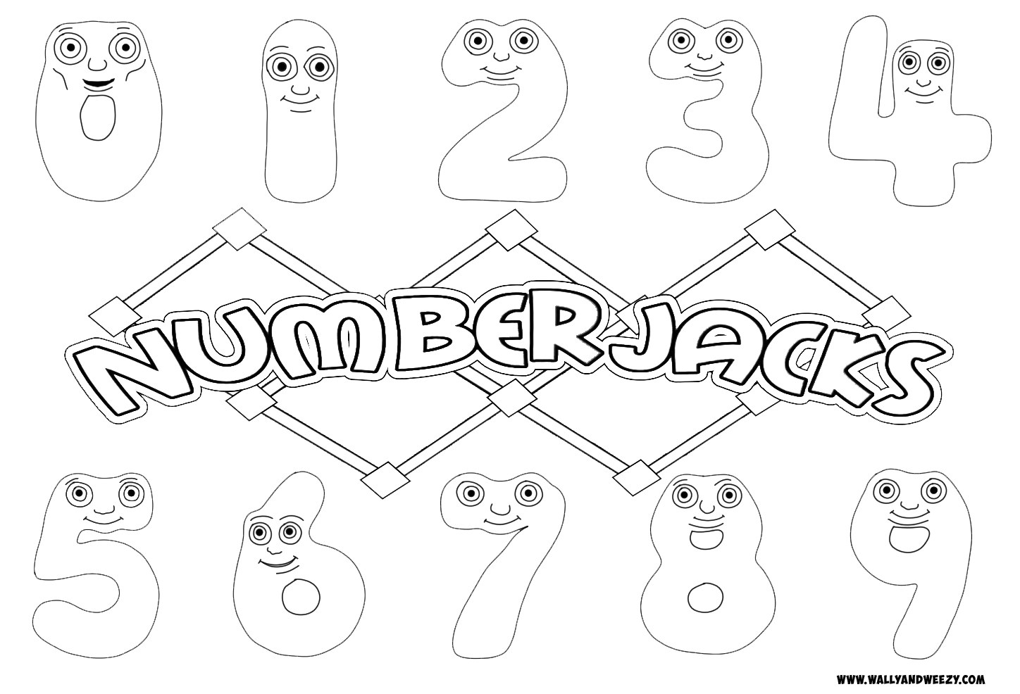 Numberjacks Coloring Page Coloring Pages Play School