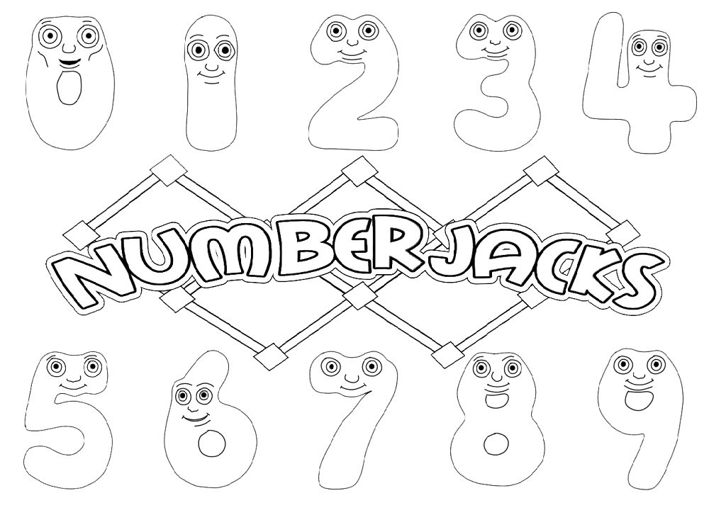 Numberjacks Coloring Page Free Printable Coloring Pages