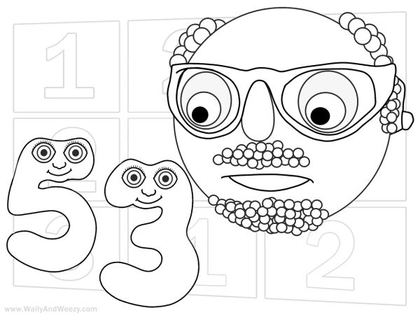 Numberjacks Drawing Coloring Video And Downloadable