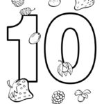 Numbers 1 10 Coloring Pages Coloring Home