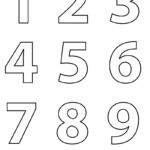 Numbers Colouring Sheets 09 Numbers Preschool Coloring