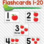 Numbers Flashcards 1 20 With Images Flashcards Free